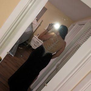Tiffany Designs Dresses - Tiffany Black Prom Dress Size:6